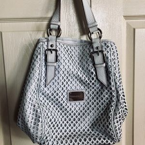 Dolce & Gabbana White Perforated Leather Bag